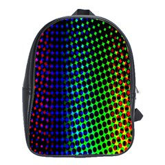 Digitally Created Halftone Dots Abstract School Bags(large)  by Nexatart