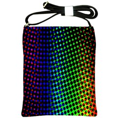 Digitally Created Halftone Dots Abstract Shoulder Sling Bags by Nexatart