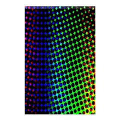 Digitally Created Halftone Dots Abstract Shower Curtain 48  X 72  (small)  by Nexatart