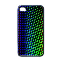 Digitally Created Halftone Dots Abstract Apple Iphone 4 Case (black)