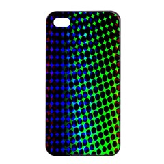 Digitally Created Halftone Dots Abstract Apple Iphone 4/4s Seamless Case (black) by Nexatart