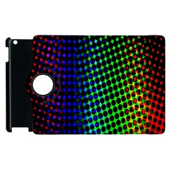 Digitally Created Halftone Dots Abstract Apple Ipad 2 Flip 360 Case by Nexatart