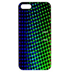 Digitally Created Halftone Dots Abstract Apple Iphone 5 Hardshell Case With Stand by Nexatart