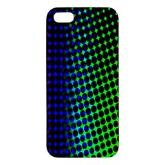 Digitally Created Halftone Dots Abstract Iphone 5s/ Se Premium Hardshell Case by Nexatart