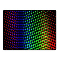 Digitally Created Halftone Dots Abstract Double Sided Fleece Blanket (small)