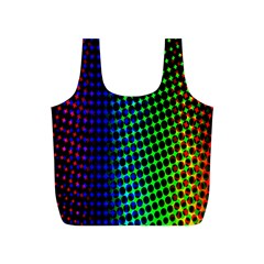 Digitally Created Halftone Dots Abstract Full Print Recycle Bags (s)
