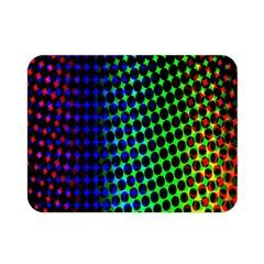 Digitally Created Halftone Dots Abstract Double Sided Flano Blanket (mini)