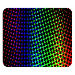 Digitally Created Halftone Dots Abstract Double Sided Flano Blanket (small)