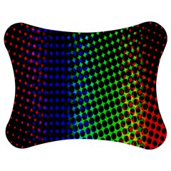 Digitally Created Halftone Dots Abstract Jigsaw Puzzle Photo Stand (bow) by Nexatart