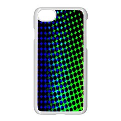 Digitally Created Halftone Dots Abstract Apple Iphone 7 Seamless Case (white) by Nexatart