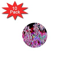 Fractal Fireworks Display Pattern 1  Mini Buttons (10 Pack)  by Nexatart