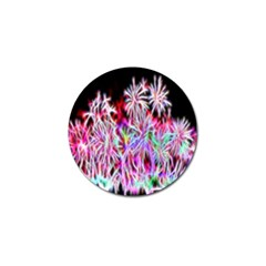 Fractal Fireworks Display Pattern Golf Ball Marker