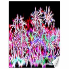 Fractal Fireworks Display Pattern Canvas 12  X 16   by Nexatart