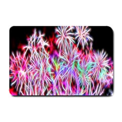 Fractal Fireworks Display Pattern Small Doormat  by Nexatart