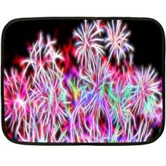 Fractal Fireworks Display Pattern Fleece Blanket (mini)
