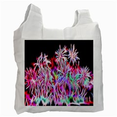 Fractal Fireworks Display Pattern Recycle Bag (two Side)