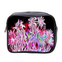 Fractal Fireworks Display Pattern Mini Toiletries Bag 2 Side by Nexatart