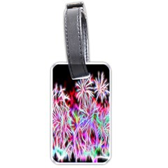 Fractal Fireworks Display Pattern Luggage Tags (two Sides) by Nexatart