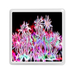 Fractal Fireworks Display Pattern Memory Card Reader (square)