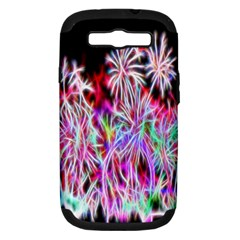 Fractal Fireworks Display Pattern Samsung Galaxy S Iii Hardshell Case (pc+silicone) by Nexatart