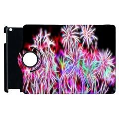 Fractal Fireworks Display Pattern Apple Ipad 3/4 Flip 360 Case by Nexatart