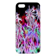 Fractal Fireworks Display Pattern Apple Iphone 5 Premium Hardshell Case by Nexatart