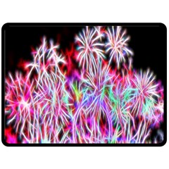 Fractal Fireworks Display Pattern Double Sided Fleece Blanket (large)  by Nexatart