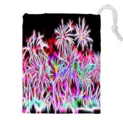 Fractal Fireworks Display Pattern Drawstring Pouches (xxl) by Nexatart