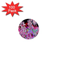 Fractal Fireworks Display Pattern 1  Mini Buttons (100 Pack)