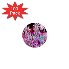 Fractal Fireworks Display Pattern 1  Mini Magnets (100 Pack)