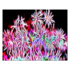 Fractal Fireworks Display Pattern Rectangular Jigsaw Puzzl
