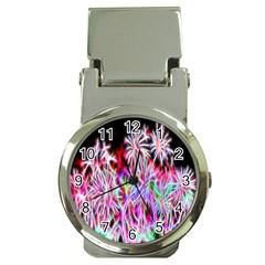 Fractal Fireworks Display Pattern Money Clip Watches by Nexatart
