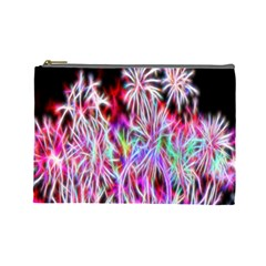 Fractal Fireworks Display Pattern Cosmetic Bag (large)  by Nexatart