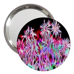 Fractal Fireworks Display Pattern 3  Handbag Mirrors