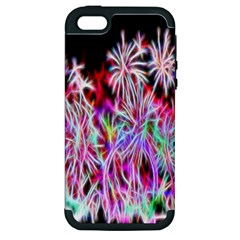 Fractal Fireworks Display Pattern Apple Iphone 5 Hardshell Case (pc+silicone) by Nexatart