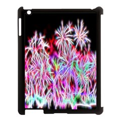Fractal Fireworks Display Pattern Apple Ipad 3/4 Case (black) by Nexatart