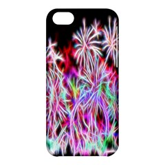 Fractal Fireworks Display Pattern Apple Iphone 5c Hardshell Case by Nexatart