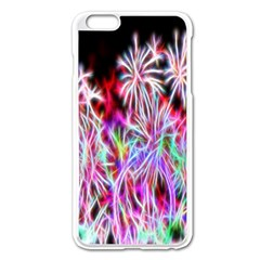 Fractal Fireworks Display Pattern Apple Iphone 6 Plus/6s Plus Enamel White Case by Nexatart