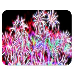 Fractal Fireworks Display Pattern Double Sided Flano Blanket (medium)  by Nexatart