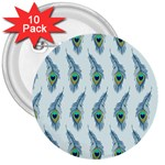 Background Of Beautiful Peacock Feathers 3  Buttons (10 pack)