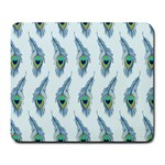 Background Of Beautiful Peacock Feathers Large Mousepads