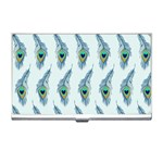 Background Of Beautiful Peacock Feathers Business Card Holders