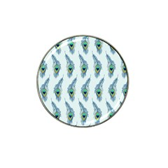 Background Of Beautiful Peacock Feathers Hat Clip Ball Marker