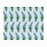 Background Of Beautiful Peacock Feathers Small Glasses Cloth (2-Side)