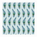 Background Of Beautiful Peacock Feathers Medium Glasses Cloth (2-Side)