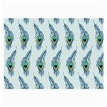Background Of Beautiful Peacock Feathers Large Glasses Cloth (2-Side)