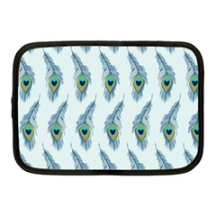 Background Of Beautiful Peacock Feathers Netbook Case (medium)