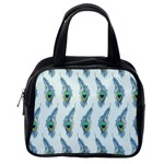 Background Of Beautiful Peacock Feathers Classic Handbags (One Side)