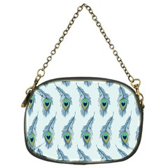 Background Of Beautiful Peacock Feathers Chain Purses (one Side)  by Nexatart