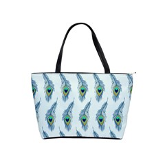 Background Of Beautiful Peacock Feathers Shoulder Handbags